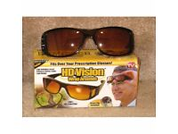 *** CLEARANCE *** ANTI-GLARE   HD VISION   NIGHT DRIVING GLASSES