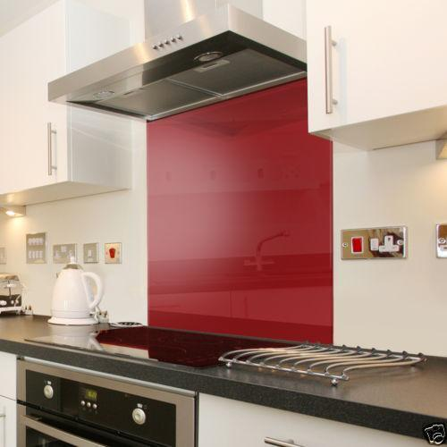 Red Kitchen Glassware: Kitchen & Cooker Splashbacks