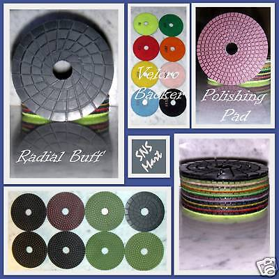 25 Custom Grit Stadea 4 Diamond Polishing Pads Wet For Granite Marble Grinder