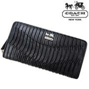Coach Black Leather Zip Wallet