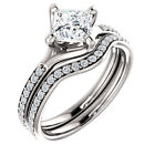 9 Ring CZ, Moissanite & Simulated Stone Engagements&Bands Ring Sets