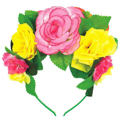 HAWAIIAN LUAU DELUXE FLOWER HEADBAND ~ Birthday Party Supplies Favor Decoration