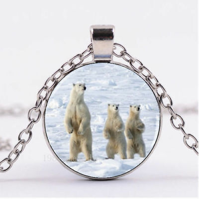 POLAR BEAR ANIMAL  gem pendant 20