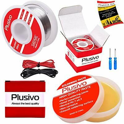 Solder Wire And Rosin Paste Flux Kit - 60-40 Tin Lead Rosin Core Solder Wire