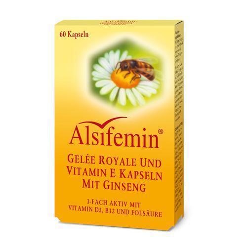 ALSIFEMIN Gelee Royal+Vit.E m.Ginseng Kapseln 60 St