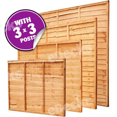 Overlap Fence Panel Kit With Fixings & 3