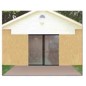 Garage Door Screen Single Magnetic Closure Weighted Bottom