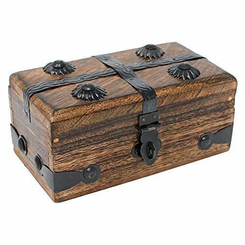 Nautical Cove Wooden Treasure Chest Keepsake Box