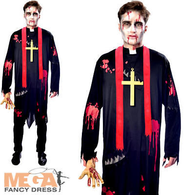 Mens Halloween Fancy Dress Saints & Sinners Adults Costume (Saint Halloween)