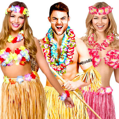 Hawaiian Adults Fancy Dress Tropical National Hawaii Island Beach Party (National Fancy Dress Kostüm)