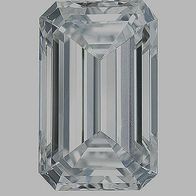 1.02 carat Emerald cut Diamond GIA E color SI1 clarity no flour. Excellent loose