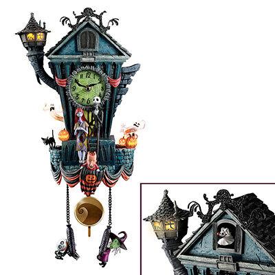 Alice in Wonderland Mad Hatter Disney Resin  Cuckoo Clock Bradford Exchange