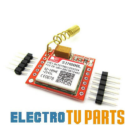 SIM800L GSM GPRS SMS Module With Antenna For Arduino, Raspberry Pi, ESP-12
