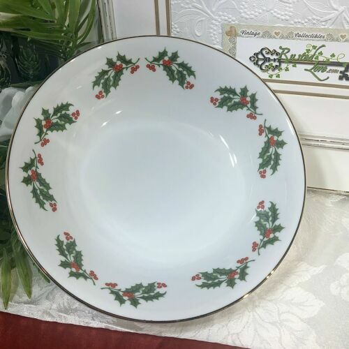 """""""Christmas Holly"""" Holiday Dishes Kashima Serving Pieces """"All the Trimmings"""" - 1"""