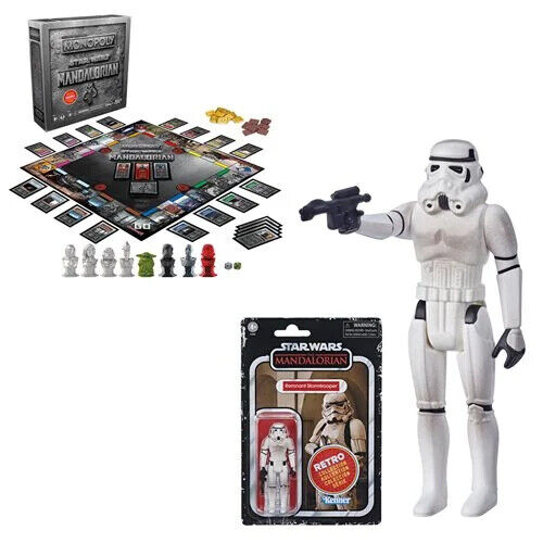 Monopoly Star Wars The Mandalorian Limited Edition with Retro Style Stormtrooper