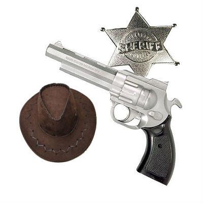 Men's Women's Rick Grimes Sheriff Kit Hat Gun Badge Cowboy TV Fancy Dress Theme