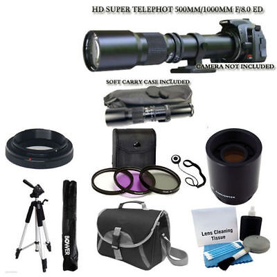 500mm 1000mm TMount Telephoto Lens for Nikon D3200 D5200 D7100 D7000 DSLR Camera