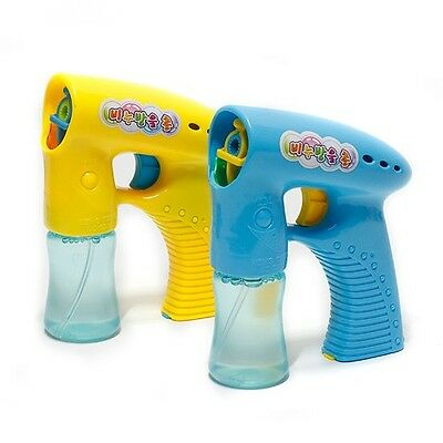 Auto Automatic Bubble Blaster Maker Blower Shooter Machine Gun Kids Child Toy