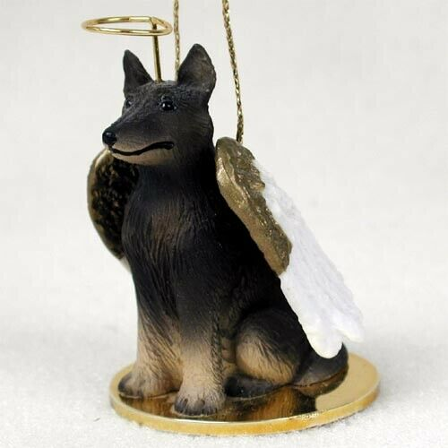 Belgian Turvuren Dog Figurine, Angel Ornament