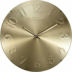 Boyle NeXtime Modern Indoor Stylish Wall Clock Elegant Dome - Gold