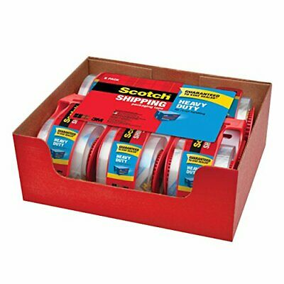 Scotch Heavy Duty Clear Shipping Packaging Tape 1.88 Inches X 800 Inches 6 Rolls