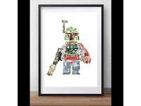 HAND DESIGNED STAR WARS LEGO THEMED ARTWORK