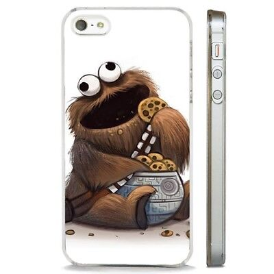 Star Wars Chewbacca Wookie Cookie CLEAR PHONE CASE COVER fits iPHONE 5 6 7 8 X