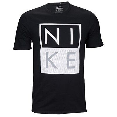 Nike Modern Black White T-shirt Men's Sz L Large Graphic Tee