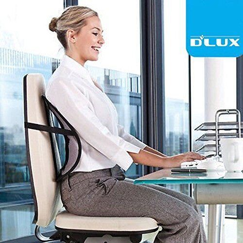 DLUX Cool Cushion Vent Mesh Back Lumbar Support for Car Seat