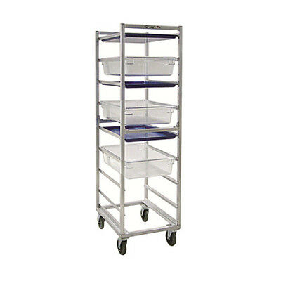 New Age 1486 Mobile Full Height Poly Box/Sheet Pan Rack W/ 9 Slides