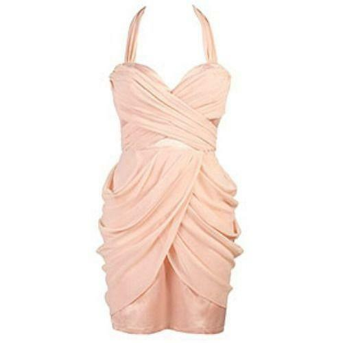 Lipsy Grecian Drape Dress Ebay
