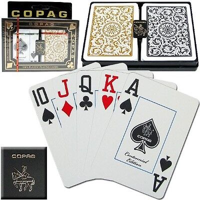 Copag Poker Size Jumbo Index 1546 Playing Cards (Black Gold Setup) New