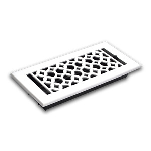 DECORATIVE AND DURABLE FLOOR/WALL REGISTERS GRILLS AND GRATES