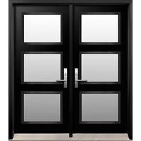 Pre-hung 8' steel door - Thermoluxe Integra model - brand new