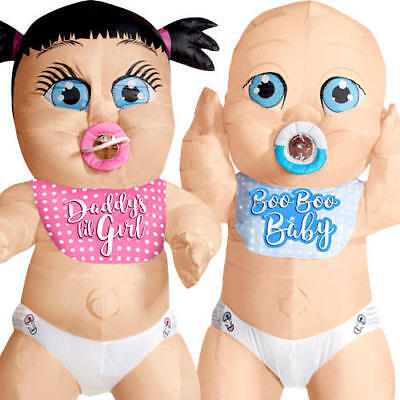 Carnival Novelties (Baby Inflatable Adults Fancy Dress Nappy Novelty Carnival Funny Stag Hen)