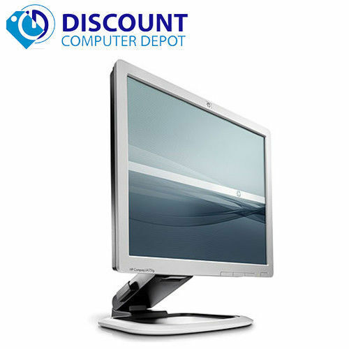 "HP 17"" Flat Screen Monitor Desktop Computer PC LCD (Grade B) - Lot(s) available"
