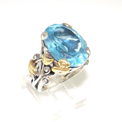 Barbara Bixby Blue Topaz Ring Ebay