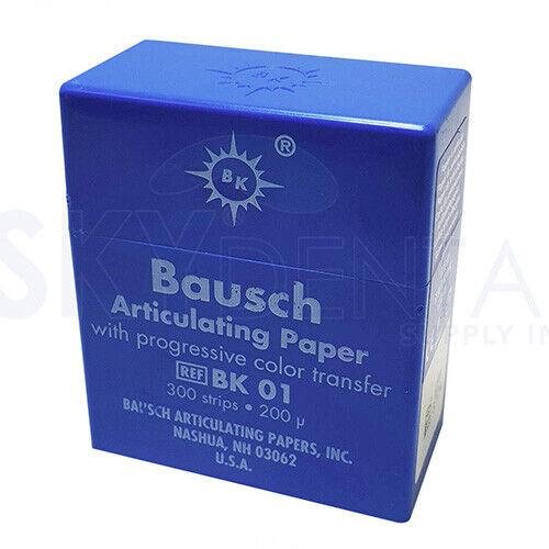 """Bausch .008"""" (200 microns) Blue Articulating Paper Strips, 300 Strips BK01"""