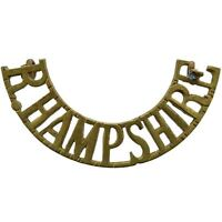 Original Ww2 Royal Hampshire Regiment Shoulder Title Badge - Bb04 -  - ebay.co.uk