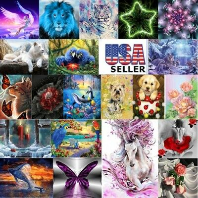 5D Diamond Painting Cross Stitch Kit Craft Home Art Decor Kids DIY Birthday Gift