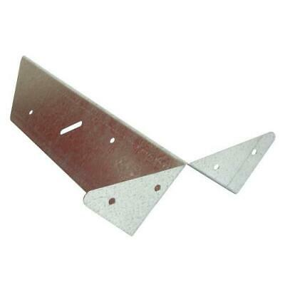 fence arris rail repair bracket pack of 48 galvanised 285mm long 80mm wide