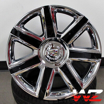 22  Ca87 Style Wheels Chrome W Black Fits Cadillac Escalade Esv Ext 6X139 7