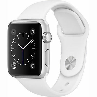 Apple Be prepared Series 1 38mm Aluminum Case White Sport Band - (MNNG2LL/A)