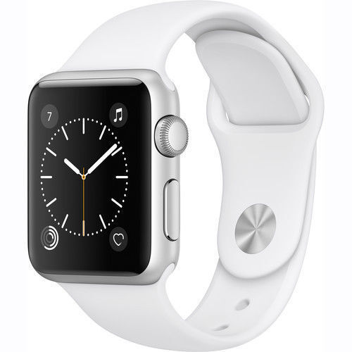 Apple Watch Series 1 38mm Aluminum Case White Sport Band - (MNNG2LL/A)