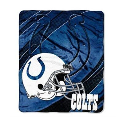 (Indianapolis Colts NFL 50x60 Micro Raschel Plush Throw Blanket FREE US SHIPPING)