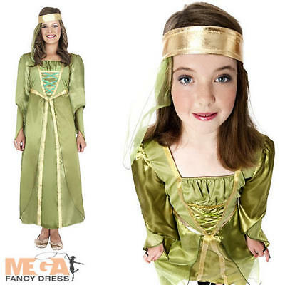 Maid Marian Girls Medieval Robin Hood Book Week Fancy Dress Kids Costume - Maid Marian Costume Child