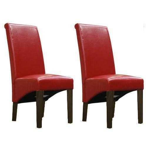 Red Kitchen Chairs Ebay