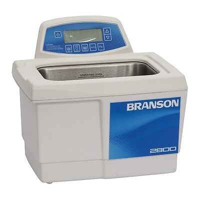 Branson Cpx2800h 0.75g Ultrasonic Cleaner W Digital Timer Heater Degas Temp Mon