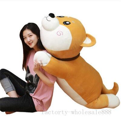 Giant Big Huge Shiba Inu Dog Plush Baby Soft Smiling Toys Doll Cuddly Kids Gift