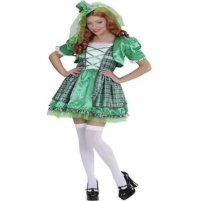 IRISCHES MÄDCHEN,  IRISH GIRL 34/36 S DAMEN KOSTÜM grün Karneval St.Patrick - Irish Girl Kostüm